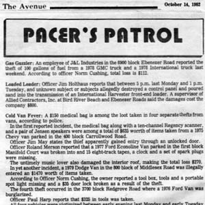 1982 in Essex: 8-Tracks and Designer Jeans Stolen