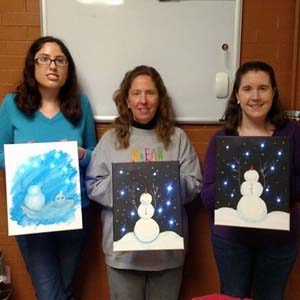 Snowman Painting at the Museum, 2017