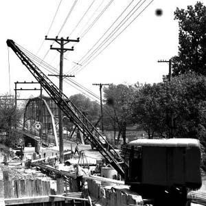 Construction of the Eastern Ave. Bridge, 1941
