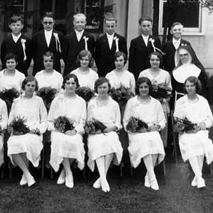 Our Lady of Mt. Carmel 8th grade graduation (Approx. 1932)