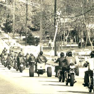 Motorcycle Funeral Procession, 1975