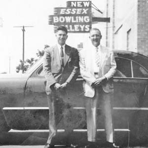 Police Detectives outside New Essex Bowling Alleys, 1950s