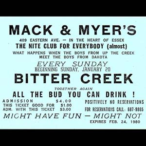 Mack & Myer's Ticket Stub, 1980