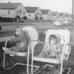 Cousins Bill Cawley and Sheila Hartman, Woodlynn Road, 1953