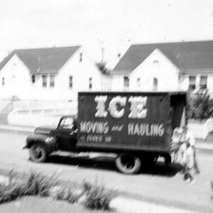 Ice Moving and Hauling Truck, 1950s