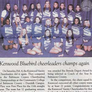 Kenwood Bluebird Cheerleaders Champs Again, 2006