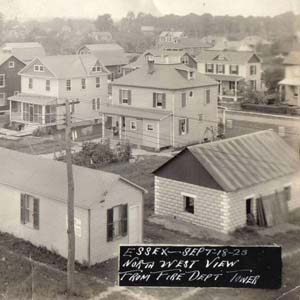 Northwest View of Essex from the Fire Department Tower, 1923