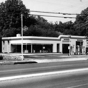 Pospisils Service Station, 1940s