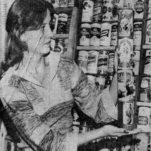 Helen Baumgartner's Beer Can Collecting Hobby (1976)